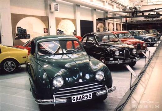 瑞典saab公司采访时,参观其汽车博物馆,此处展示着他们当年造高清图片