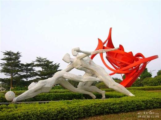 广州体育馆雕塑_照片分享