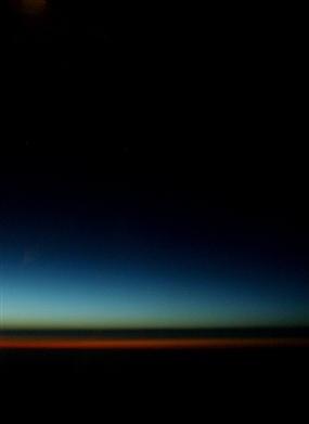 飞机上拍下的绝美落日