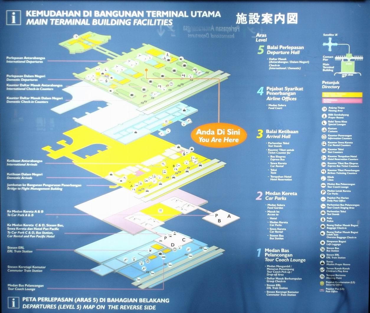 (吉隆坡机场地图)