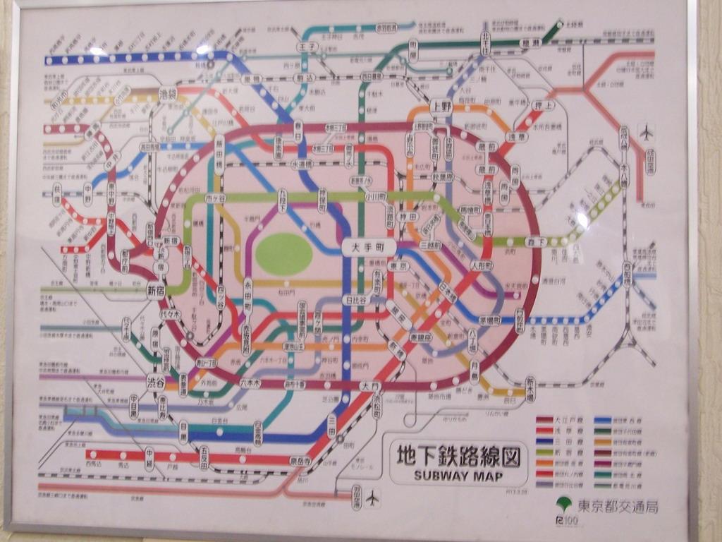 (东京JR线、地铁图)-大阪京都箱根东京跟团游图片