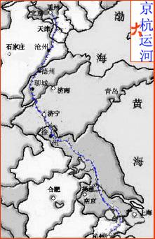 京杭运河散记    京杭大运河宛如一窈窕的女子,俯卧在我国东部的平原.图片