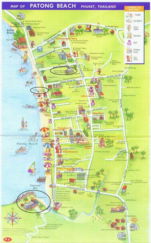 芭东海滩地图; 普吉岛游玩攻略;