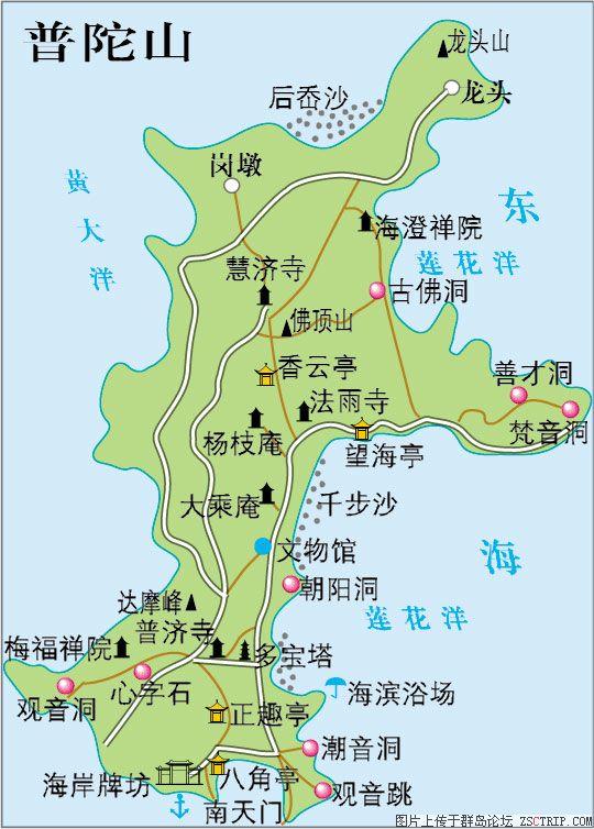 普陀岛景区地图