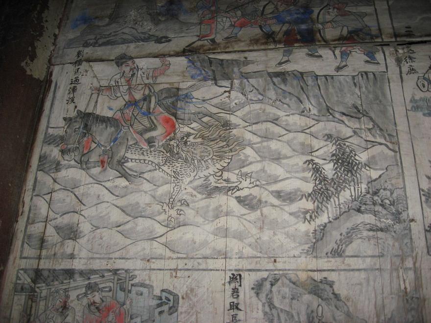 中国古代壁画宫殿宝塔图片