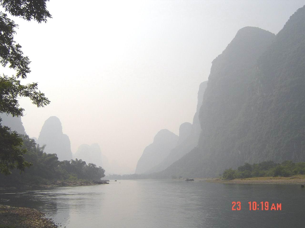 (桂林山水) (香烟包装上的图片) (桂林山水2) (九马画山) (上岸小憩)