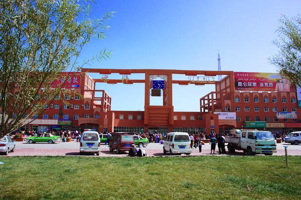 (我国最西边的火车站喀什站)图片