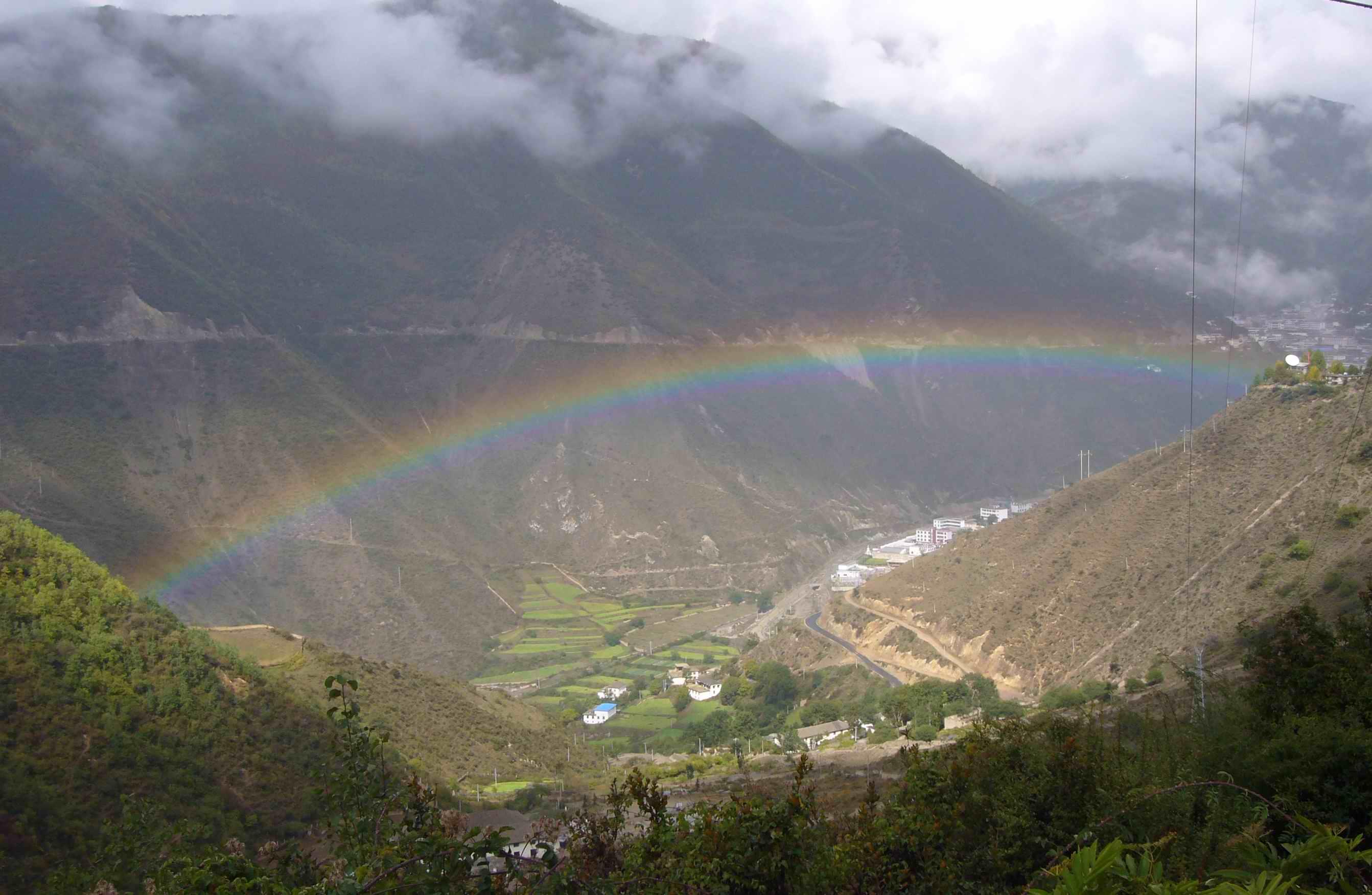li两道彩虹 风景图片