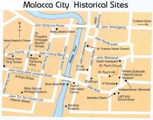 (马六甲老城区地图)