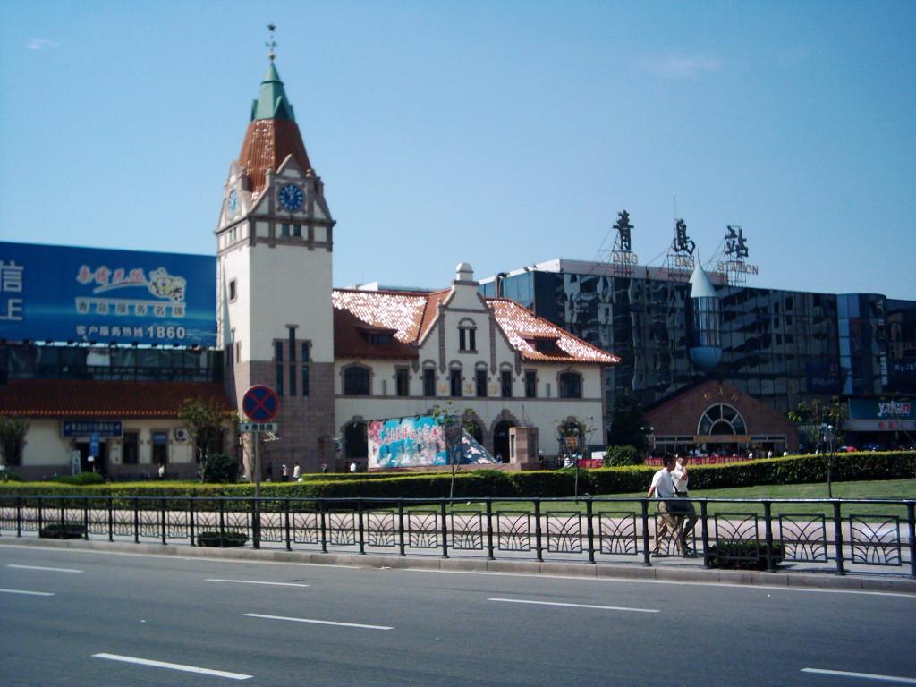 青岛第一海水浴场钟楼