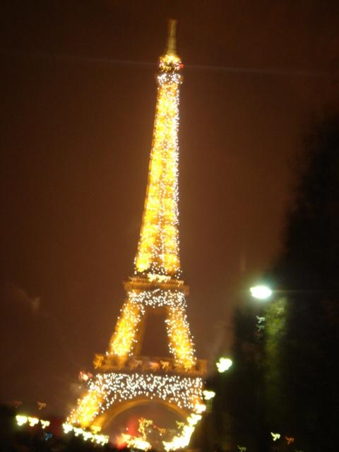 雨中埃菲尔铁塔唯美手机壁纸