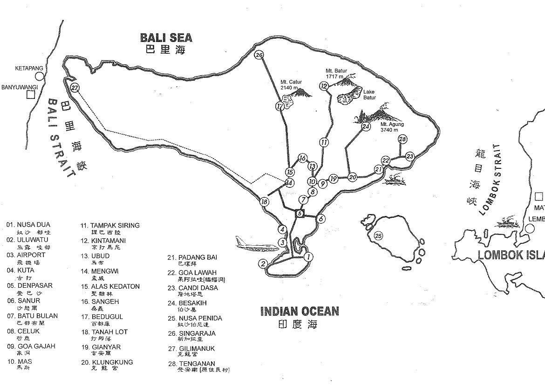台湾旅游 手绘地图