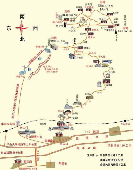 手绘景区地图 木