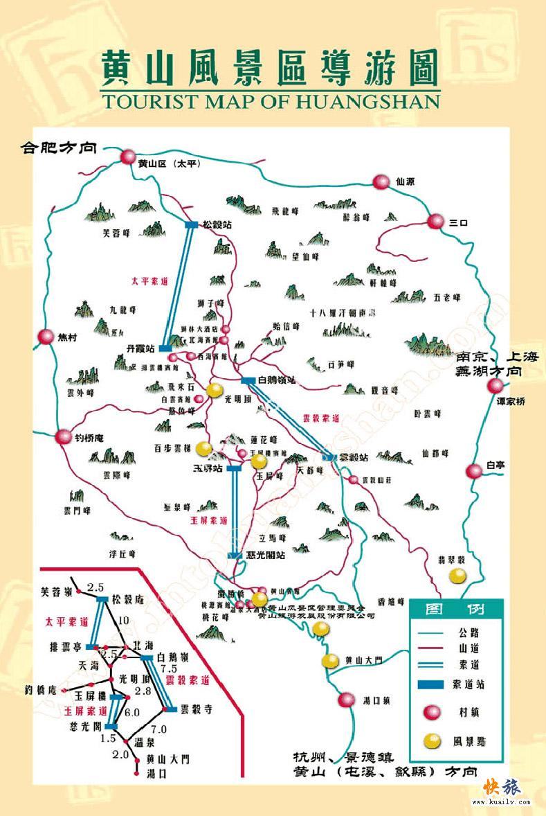(黄山地图)