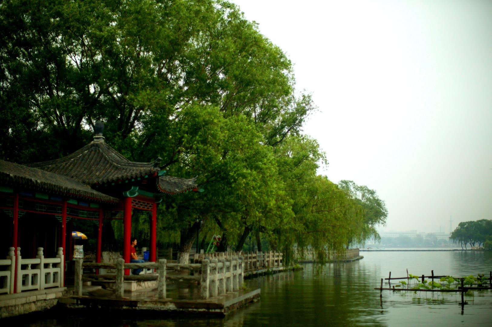 济南/行色匆匆又下雨,在济南城里连东南西北都分不清。