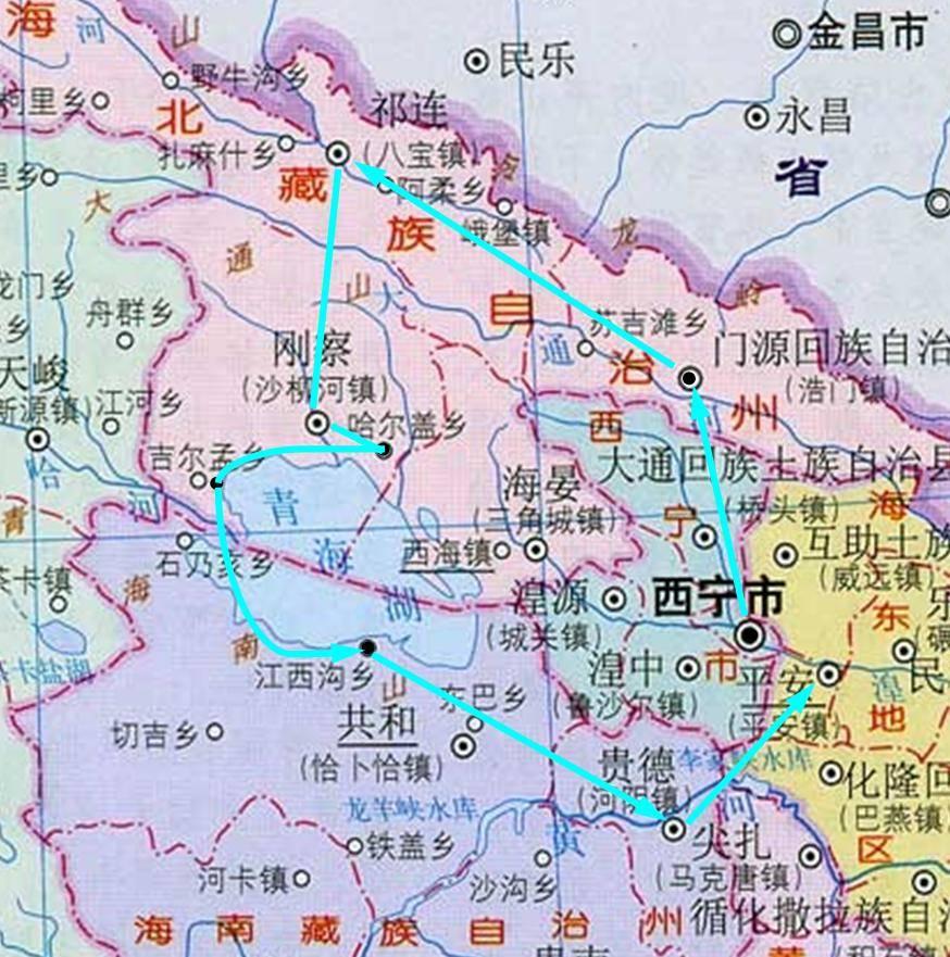 锦绣青海之 -   路线图   青海湖旅游攻略   驴评网; 锦绣青海之 - 1