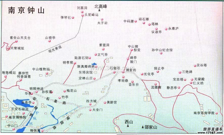 手绘南京小吃》地图