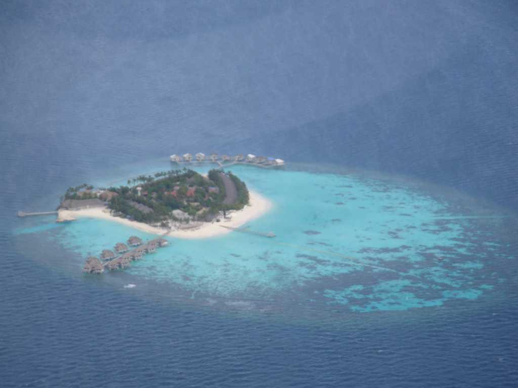 马尔代夫水上飞机 俯瞰美景