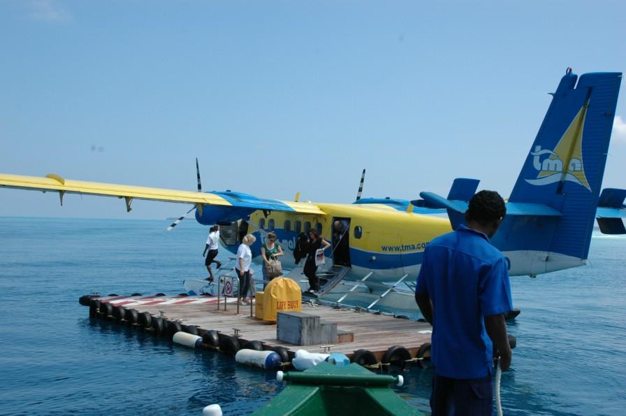水上飞机的码头