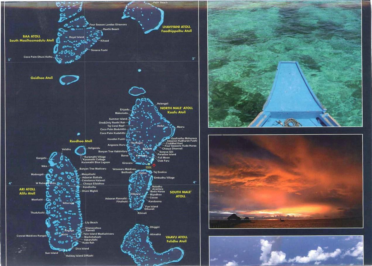 补充:马尔代夫113个岛屿酒店分布地图