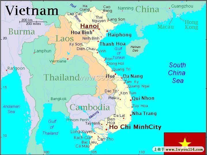 越南地图矢量图