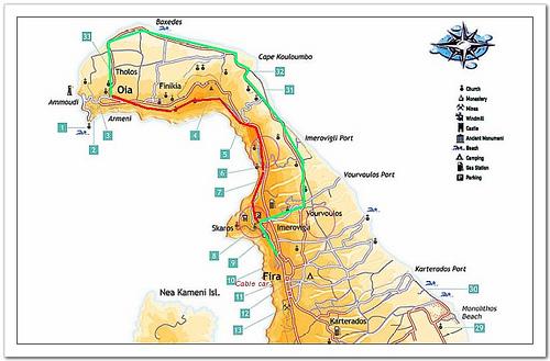 下图是圣岛oia部分的地图: (#01)