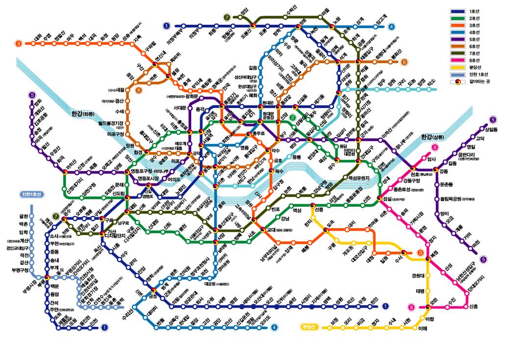首尔地下铁地图(韩文)