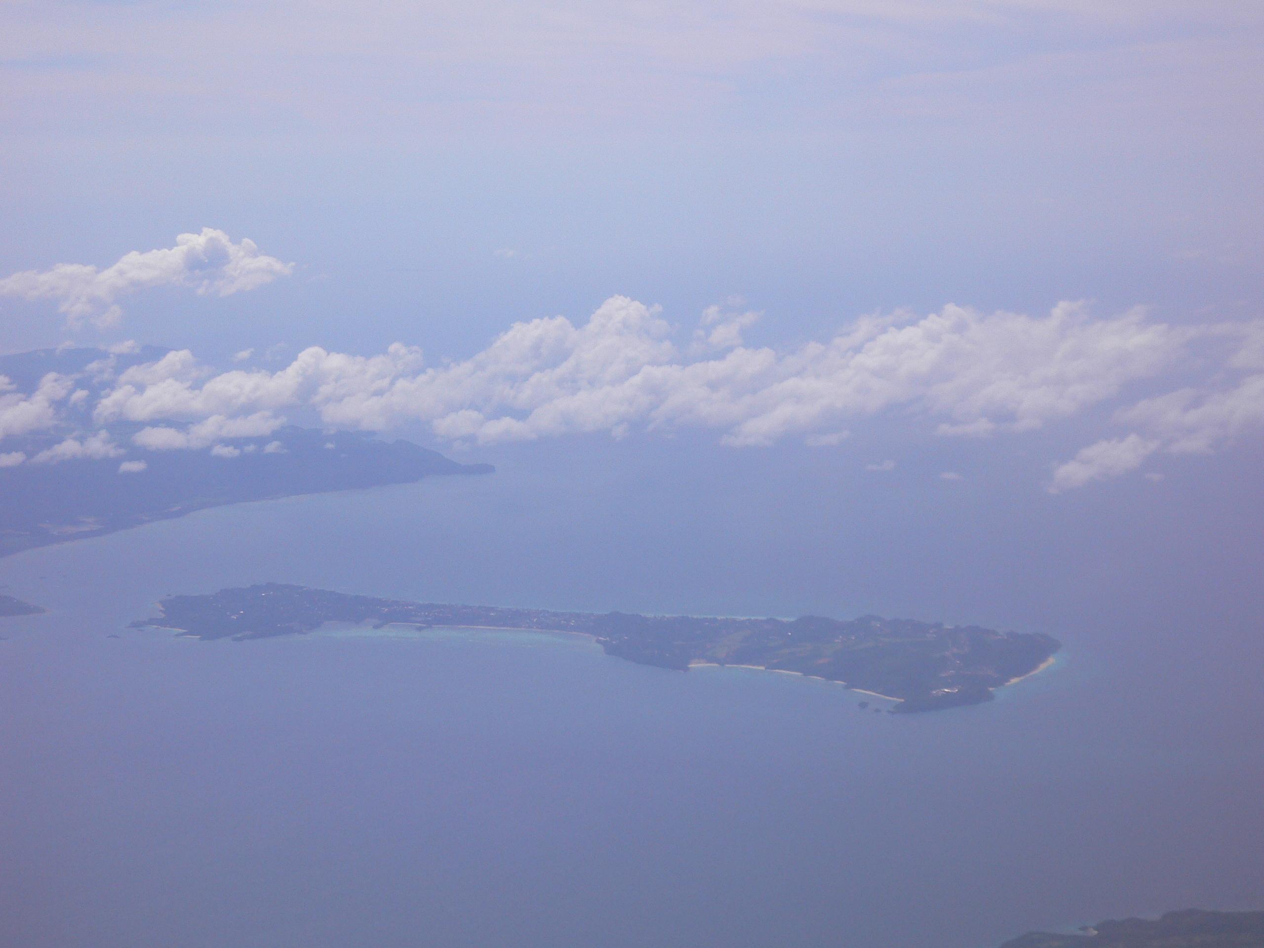 城市飞机小船风景图片