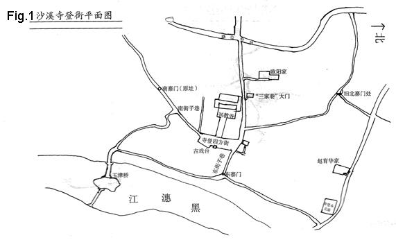 沙溪古镇手绘地图